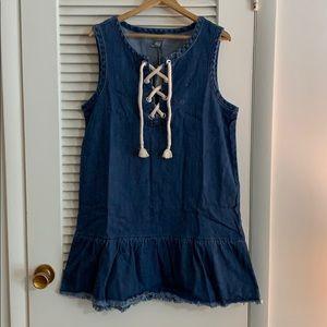 American Eagle jean dress, NWT, Large